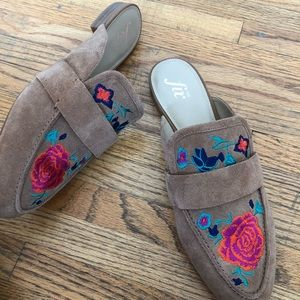 Shoes - The Fix French 2 embroidered loafers size 10